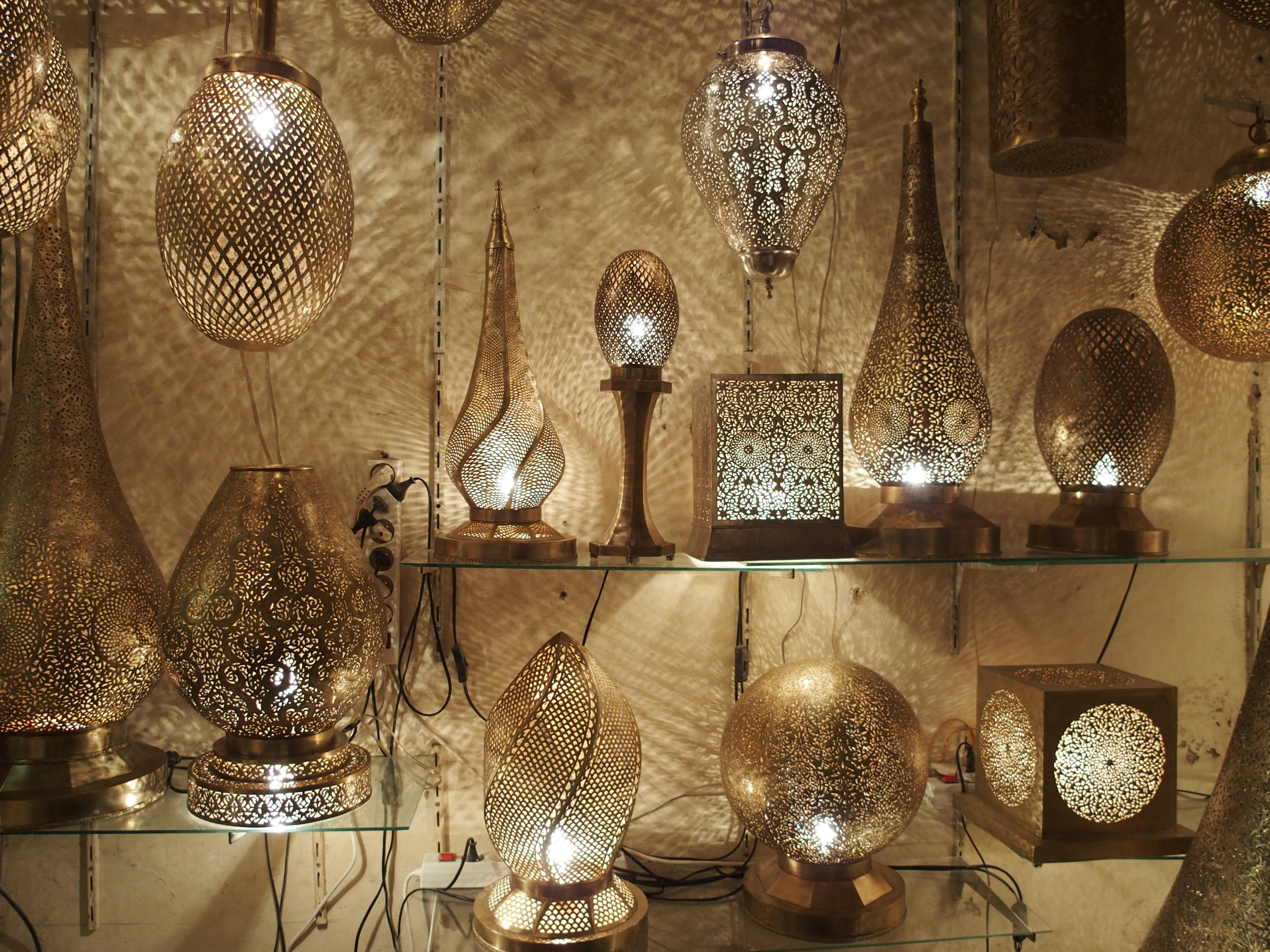 Artigianato Marocchino Milano.Luci Del Marocco Lampade In Bronzo E Artigianato Di Fez