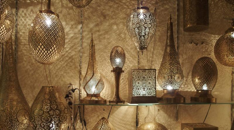 Lampade in bronzo del Marocco