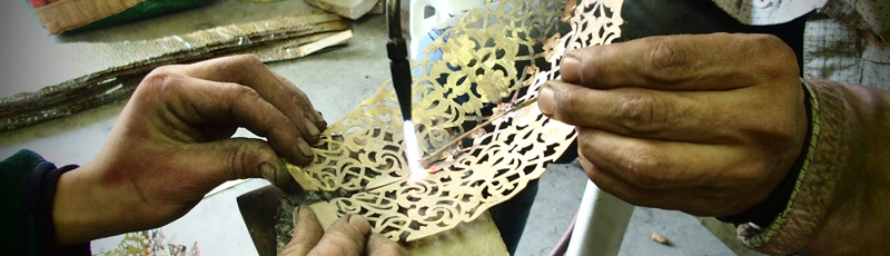 Lampade tradizionali in bronzo del Marocco