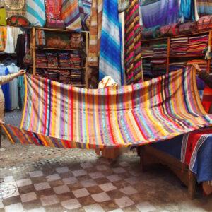 Copriletto marocchino in agave e velluto - shop online Marocco