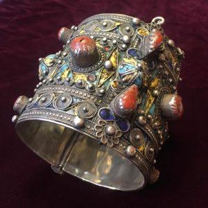 Bracciale in argento e pietre - Gioielli artigianali del Marocco - Shop online artigianato marocchino